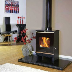 Portway 1 Glass from Hemsworth Fireplaces