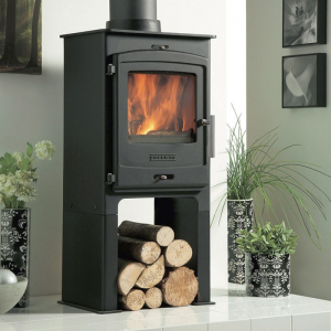 Portway 1 Contemporary Multifuel stove on Hemsworth Fireplaces