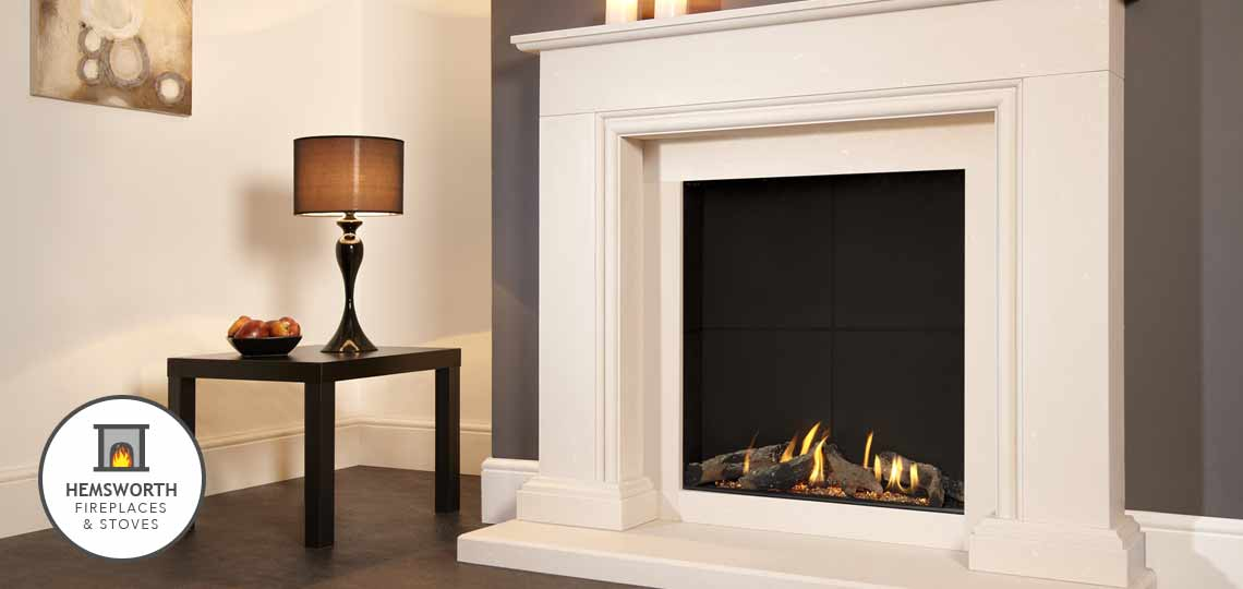 Hemsworth Fireplaces EcoTech Stoves Flavel Fire ad Michael Miller surround